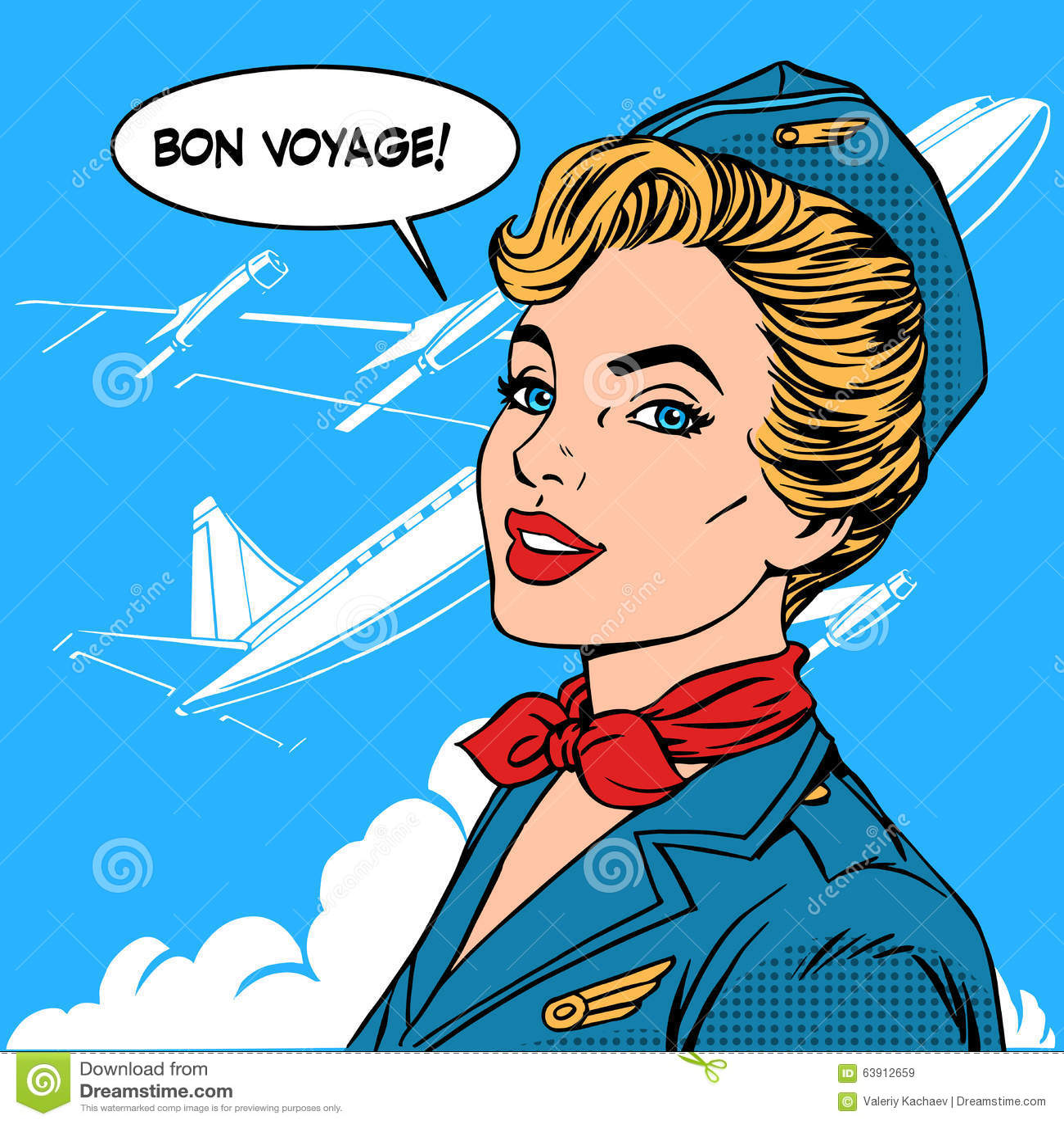 Conosciuto Buon Viaggio Turismo Di Viaggio Dell'aeroplano Dell'hostess  TD06