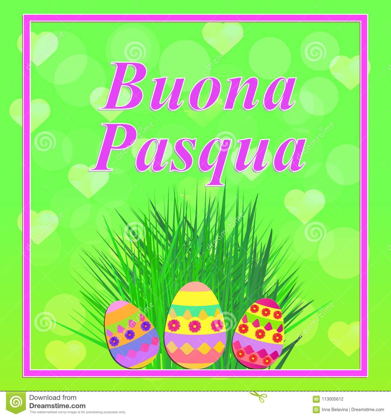 Buona Pasqua Illustration Stock Illustration Illustration Of Gift