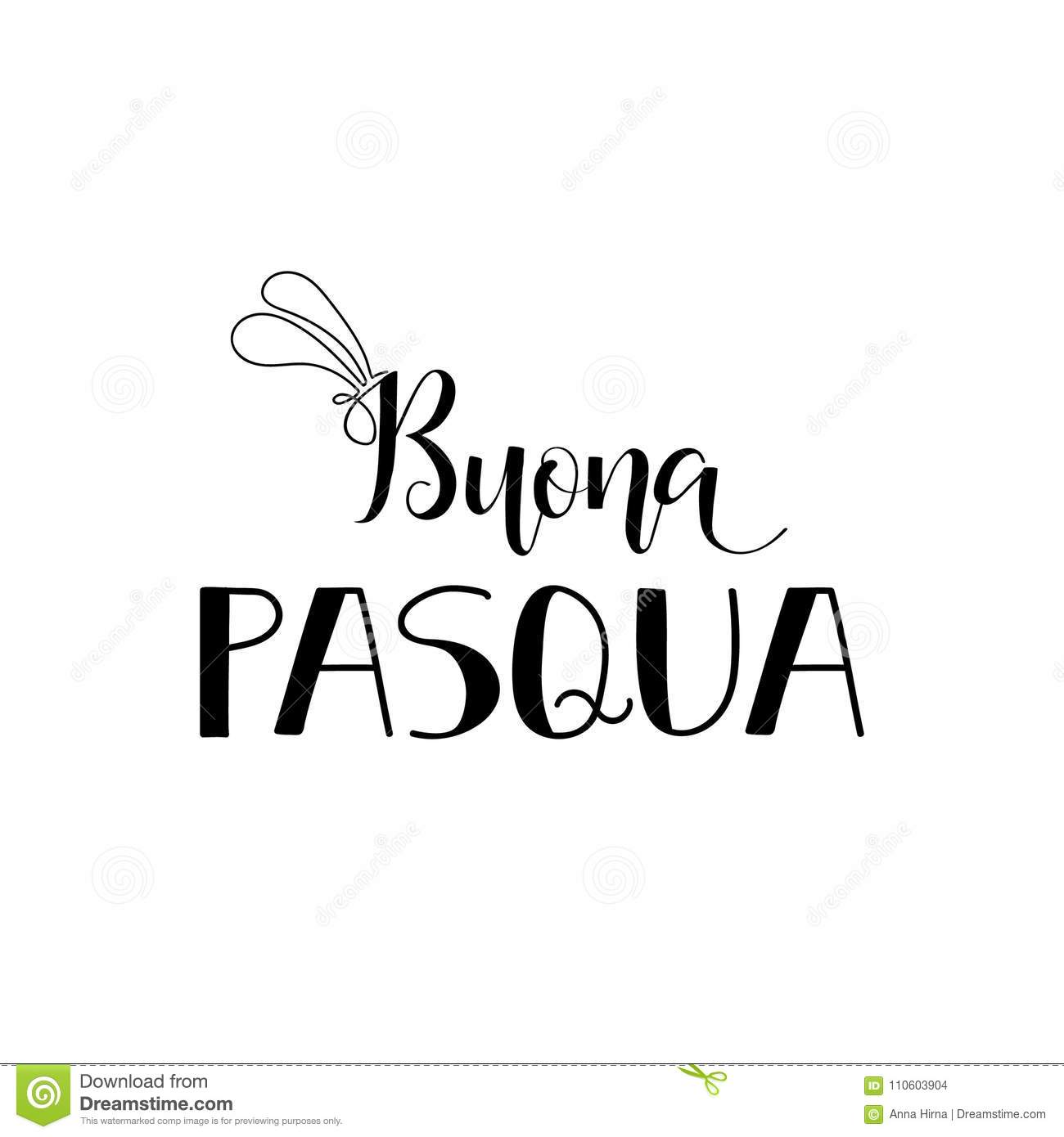 Buona Pasqua Lettering Translation From Italian Happy Easter