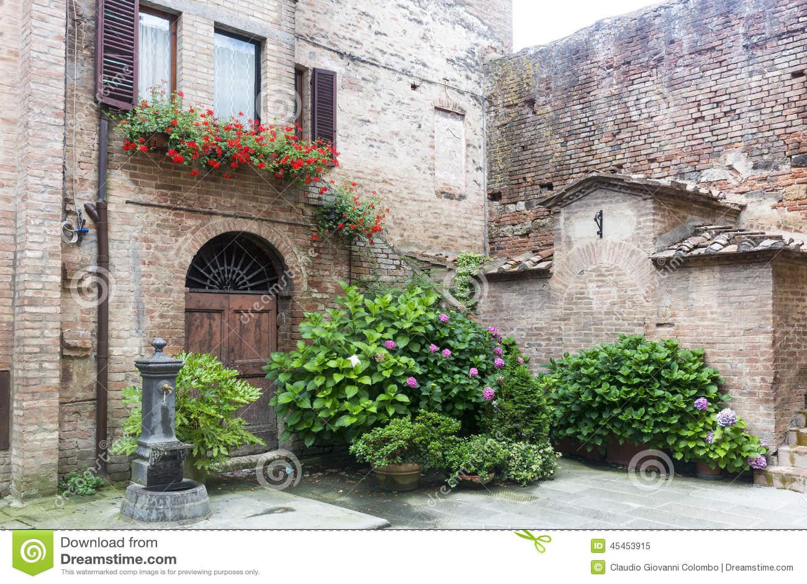Buonconvento tuscany italy royalty free stock image for Classic house plants