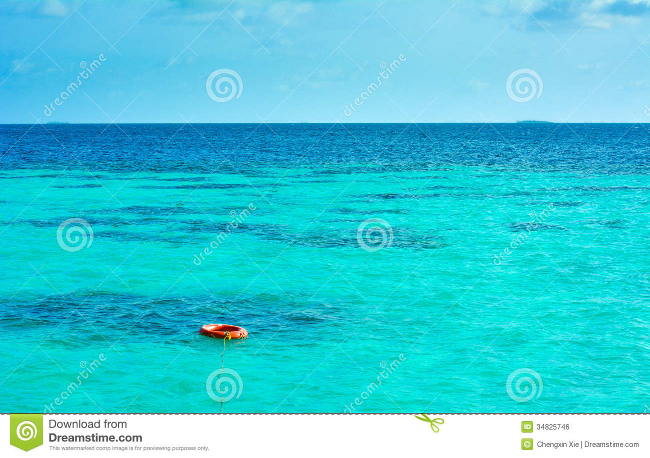 Free House Plans A Buoy On The Sea Royalty Free Stock Image Image 34825746