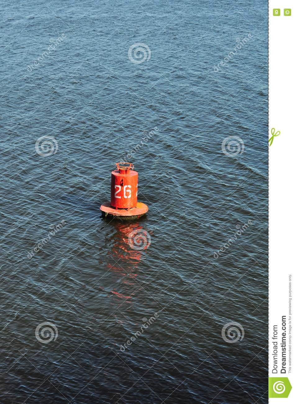 Buoy On The Water Marine Distance Marker Stock Photo