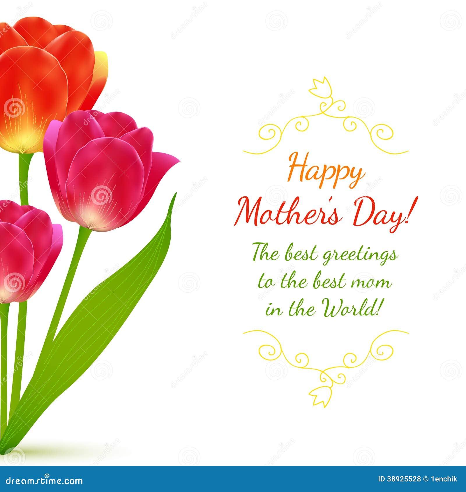 Buquet των τουλιπών για την ημέρα της μητέρας