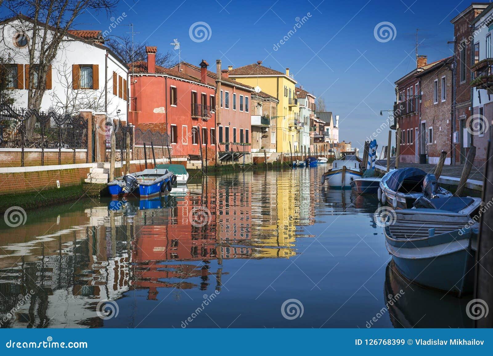Burano海岛,在威尼斯,意大利
