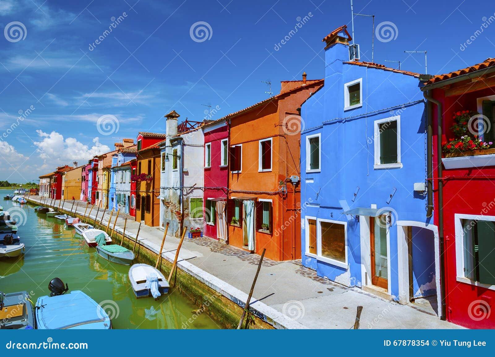 Burano海岛,威尼斯,意大利