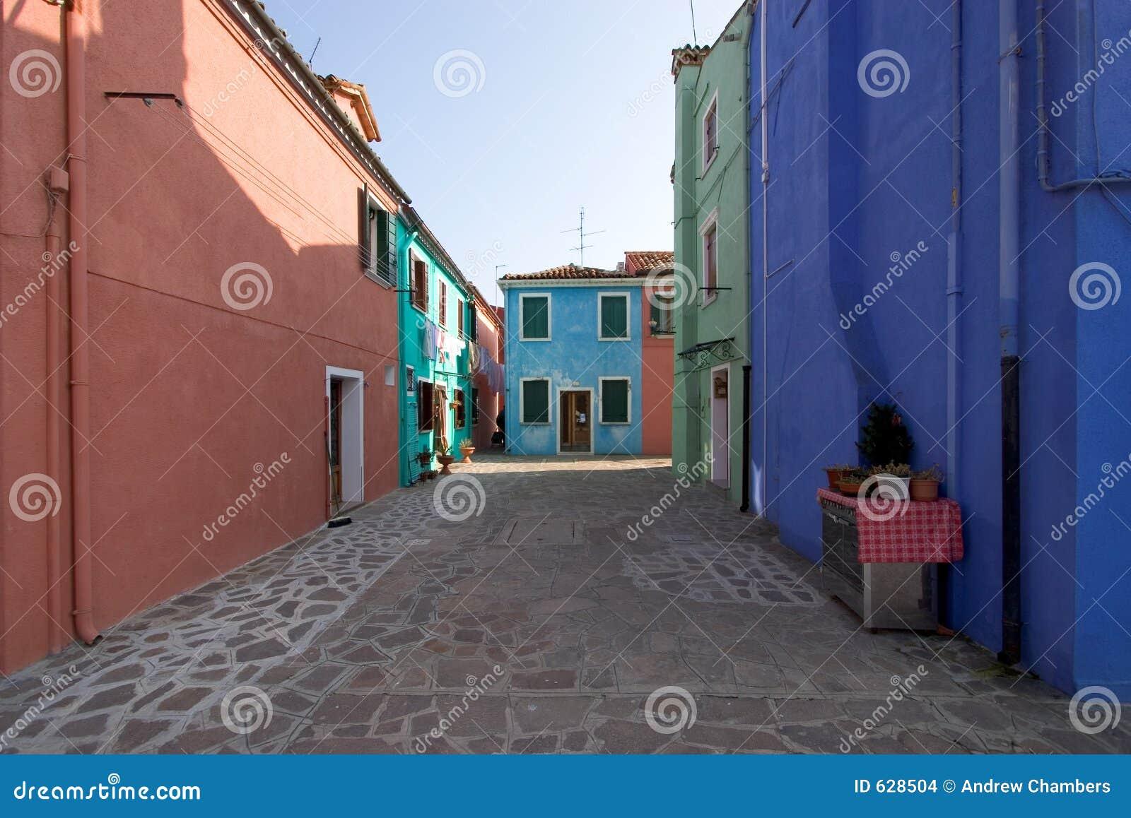 Download Burano квадратный venice стоковое фото. изображение насчитывающей дома - 628504