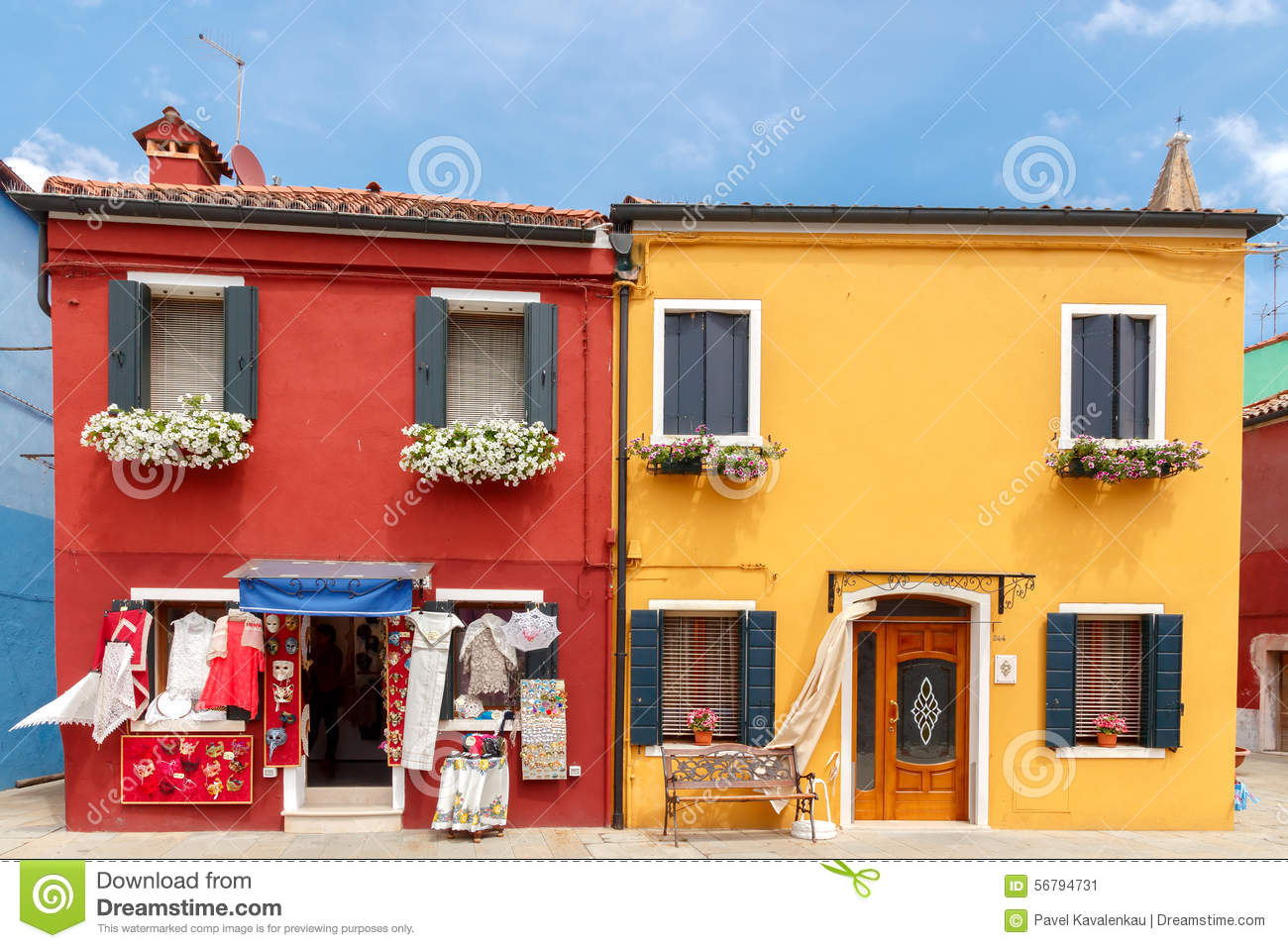 Colorful burano italy burano tourism - Burano Houses On The Water Editorial Photo