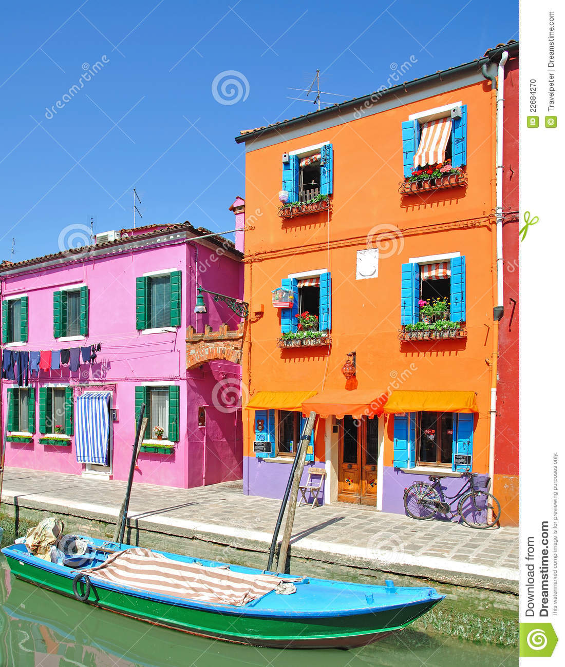 Download Burano Island,Lagoon Of Venice Stock Photo - Image of picturesque, interest: 22684270