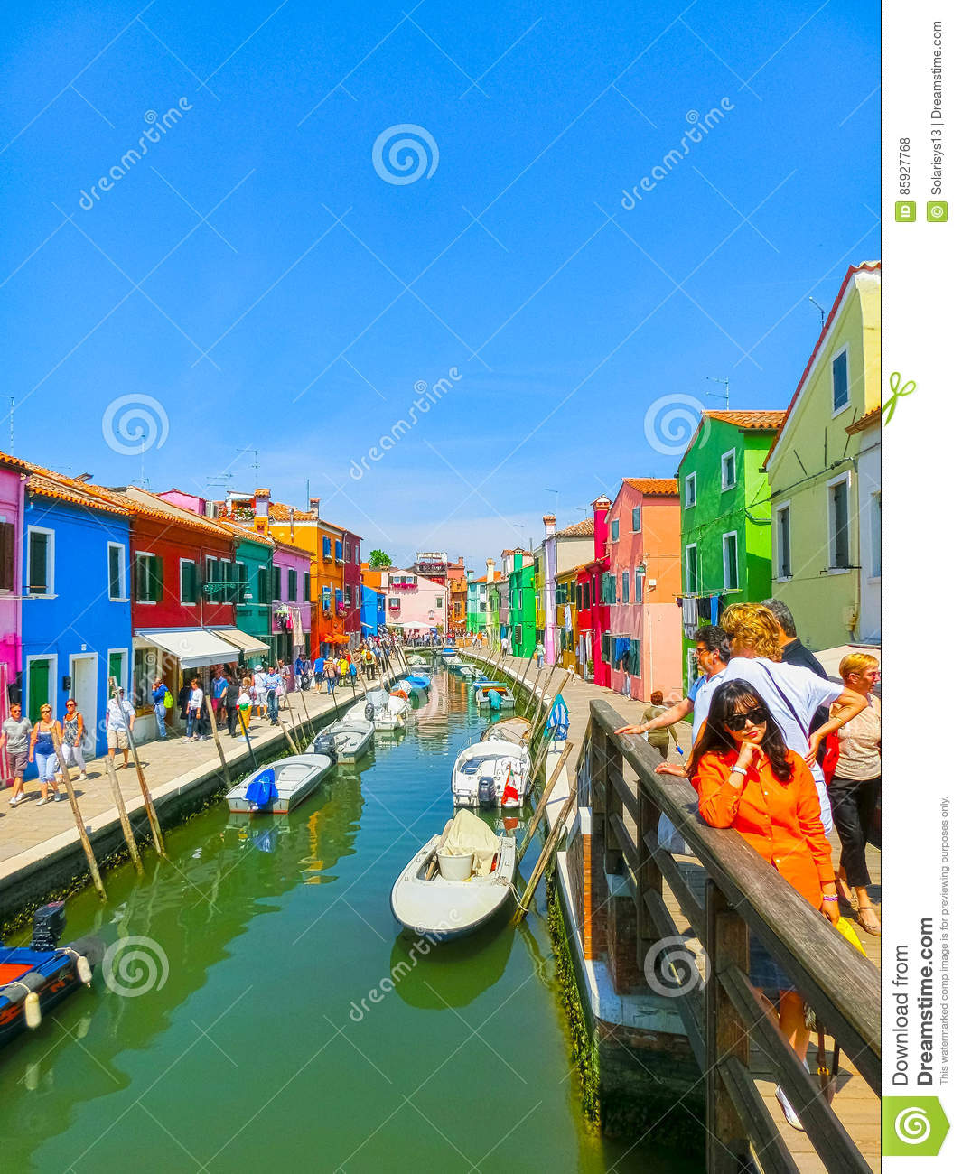 Colorful burano italy burano tourism - Burano Venice Italy May 10 2014 Colorful Old Houses On The