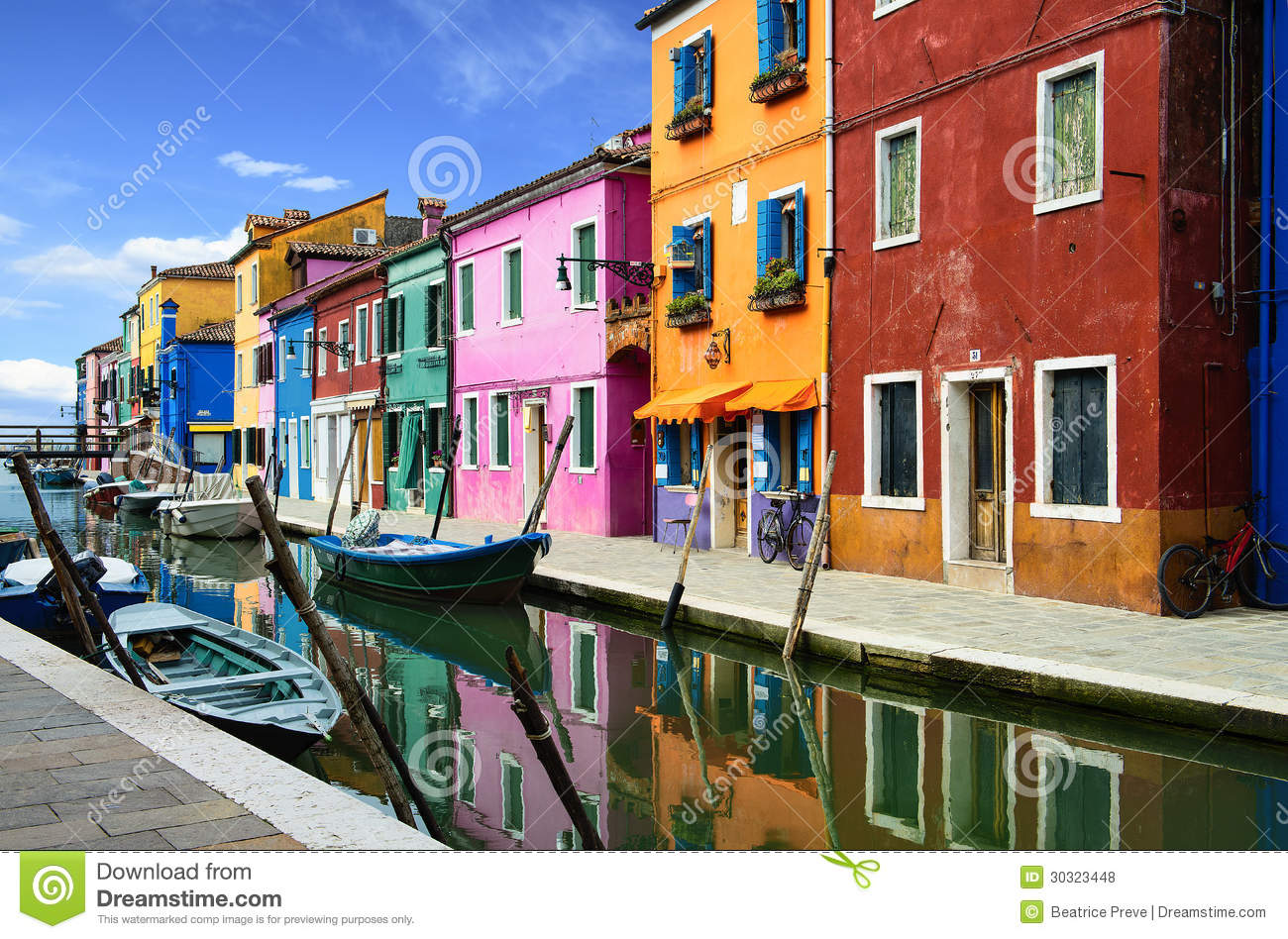 Free Download Residential Building Plans Burano Village Near Venise Royalty Free Stock Photos