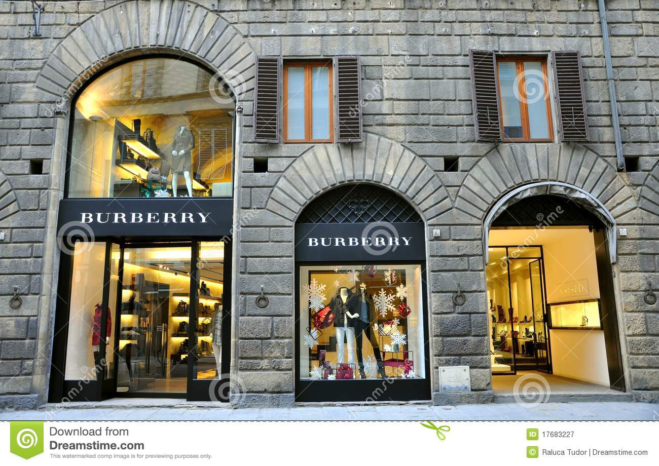 burberry clothing fashion boutique in italy editorial. Black Bedroom Furniture Sets. Home Design Ideas