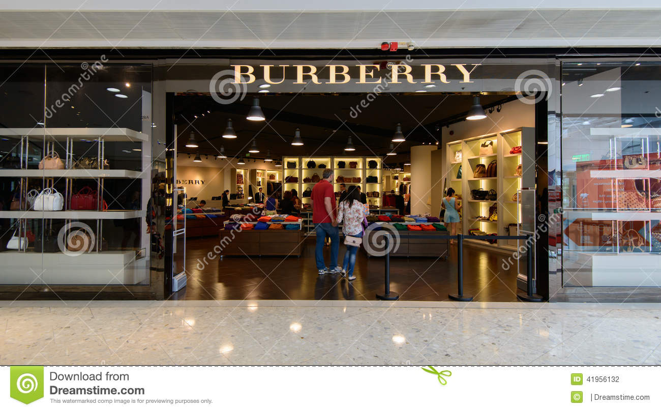 burrbery outlet qbu1  Burberry shop at City gate Outlet Editorial Photography