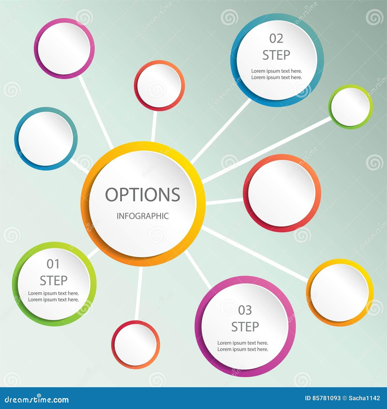Burbuja abstracta del diseño web, vector