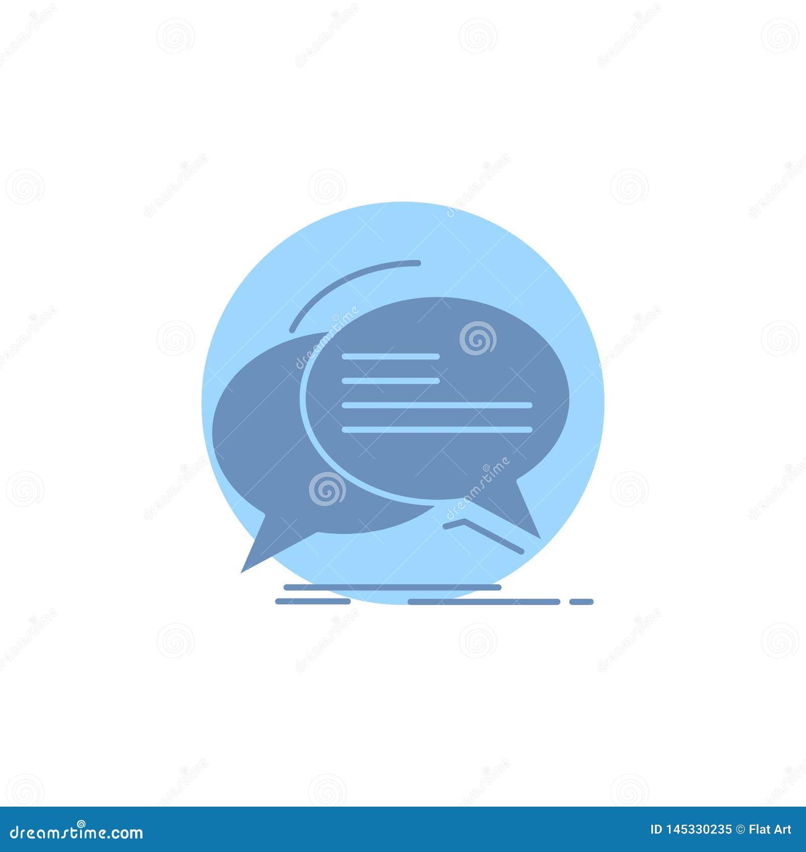 Burbuja, charla, comunicaci?n, discurso, icono del Glyph de la charla