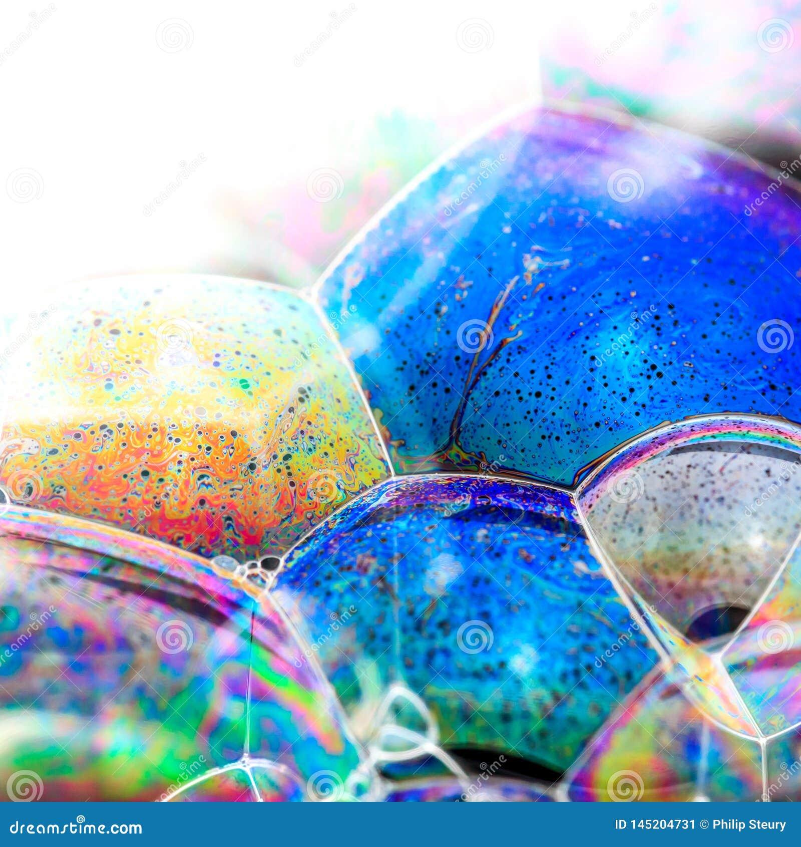 Burbuja de jab?n colorida