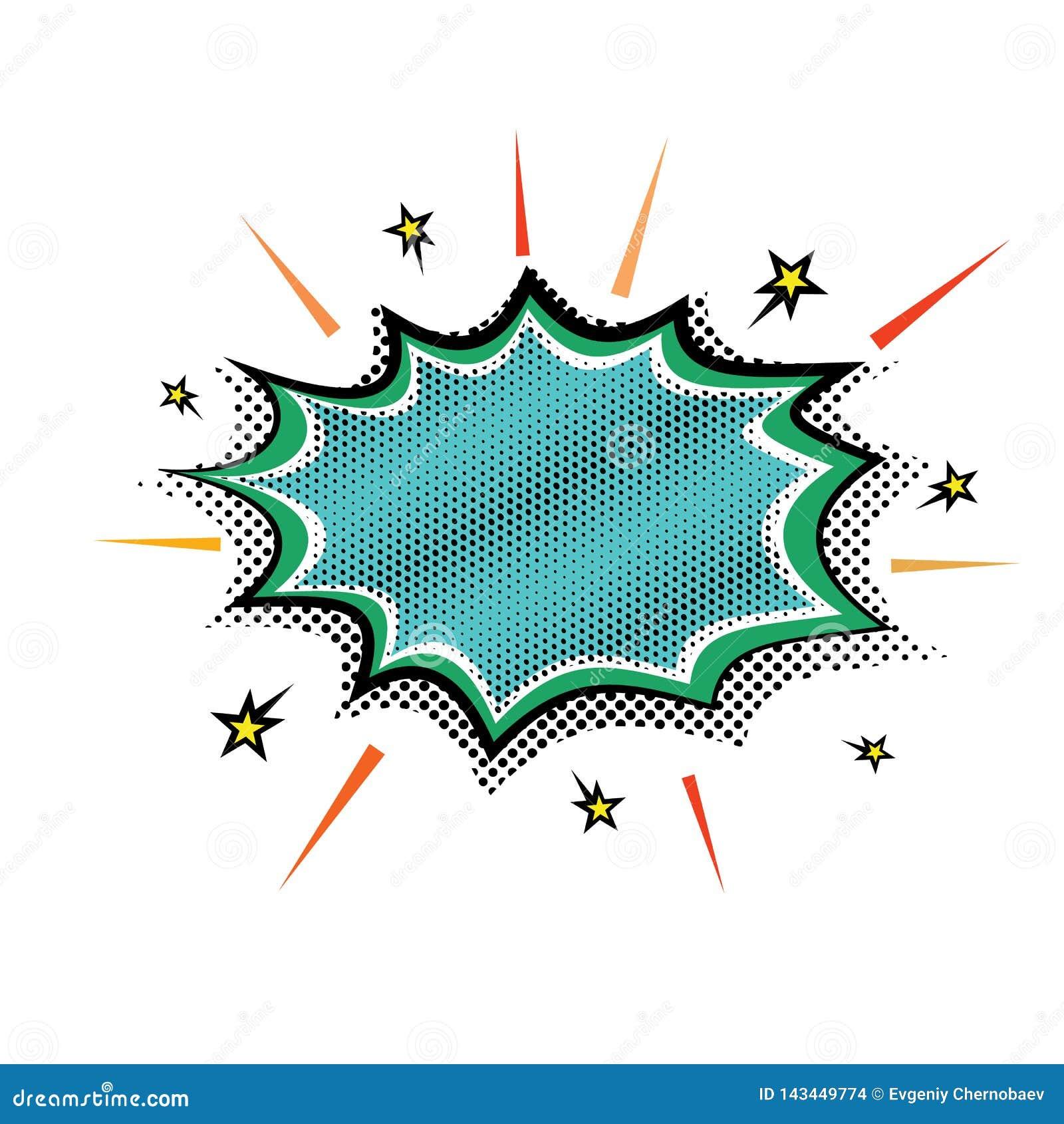 Burbuja de la nube del discurso del auge de la explosión del vapor del Estallido-arte Burbujas cómicas del discurso del diseño de