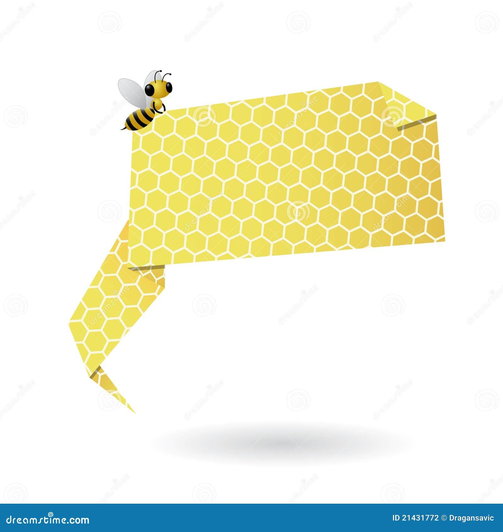 Burbuja del discurso del origami del panal
