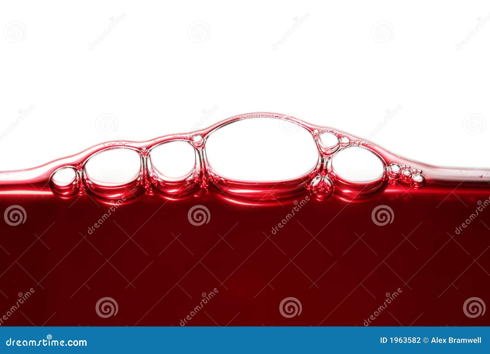 Burbujas del vino
