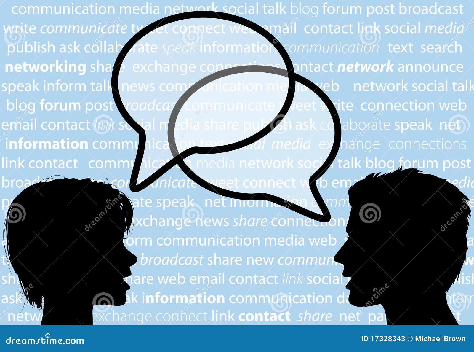 Burbujas sociales del discurso de la red de la parte de la charla de la gente