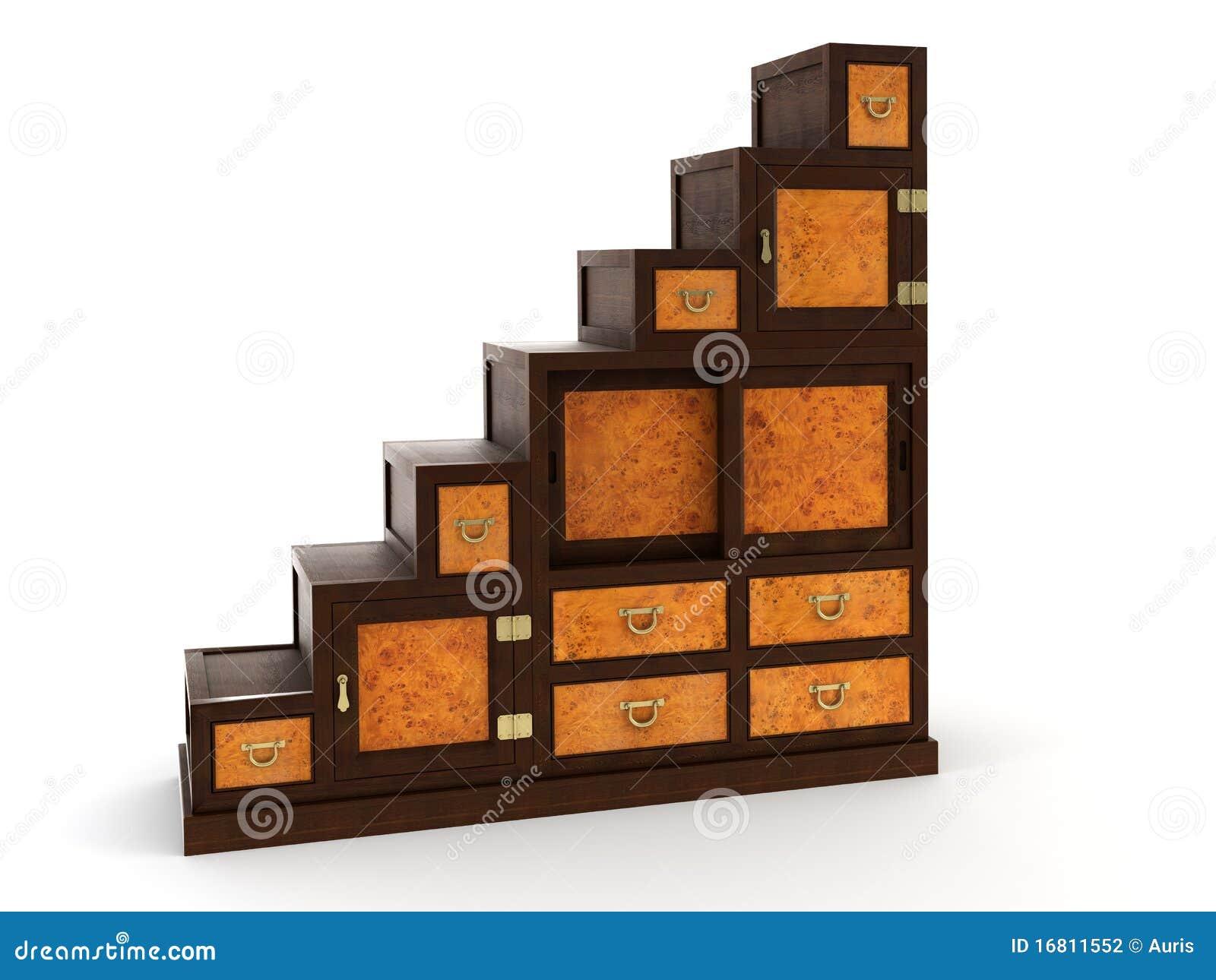 bureau 3d rendering stock photography image 16811552. Black Bedroom Furniture Sets. Home Design Ideas