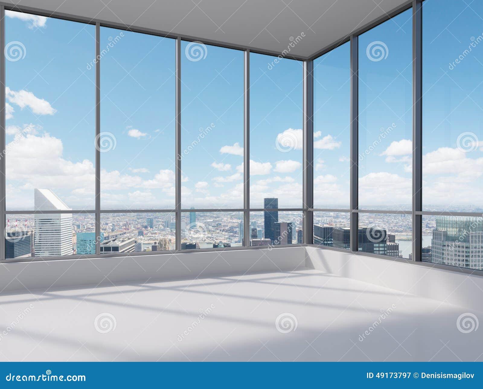 Bureau avec la grande fen tre illustration stock image for Grande fenetre