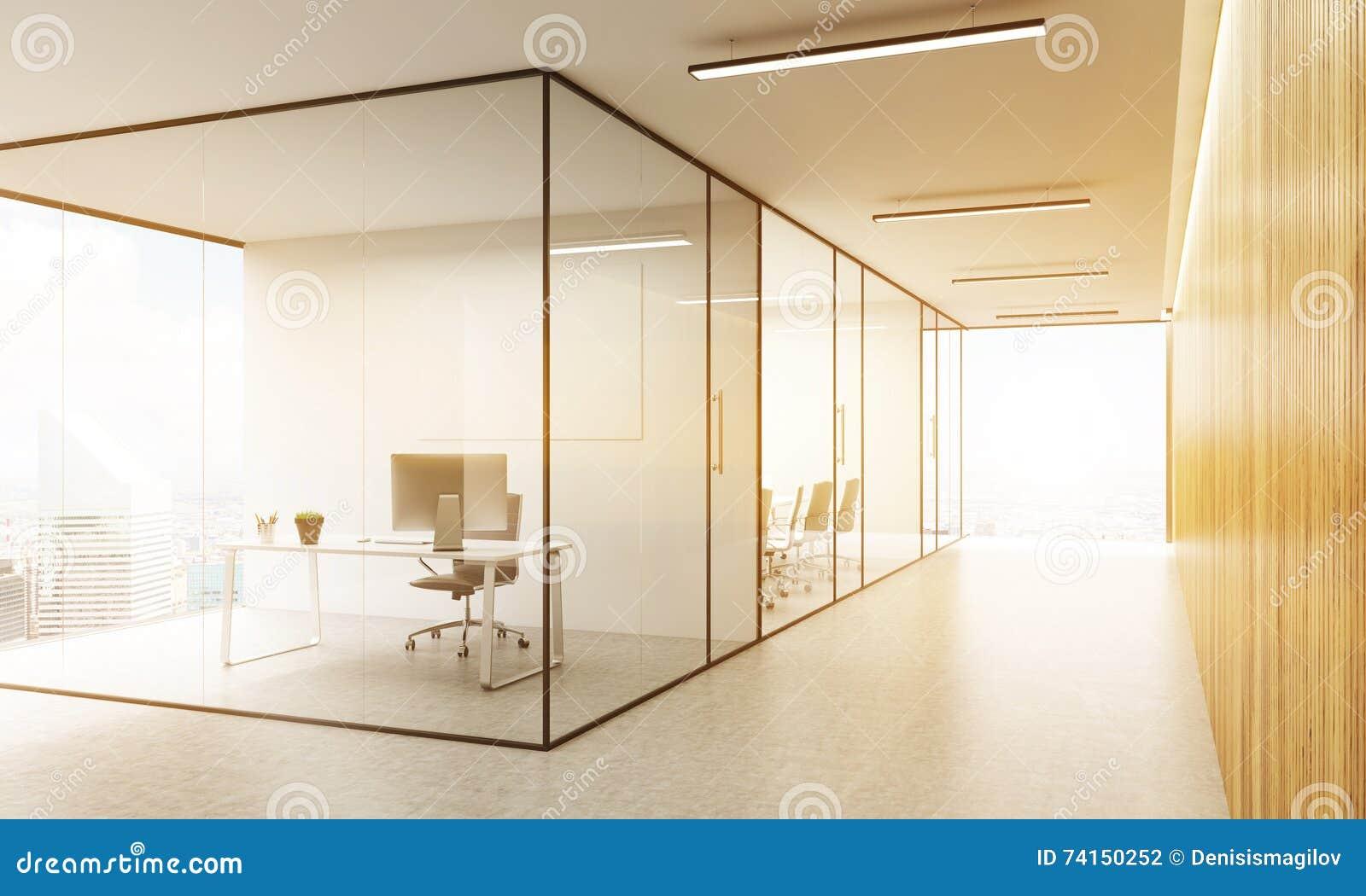 Bureau avec la vue de ny illustration stock. illustration du étage