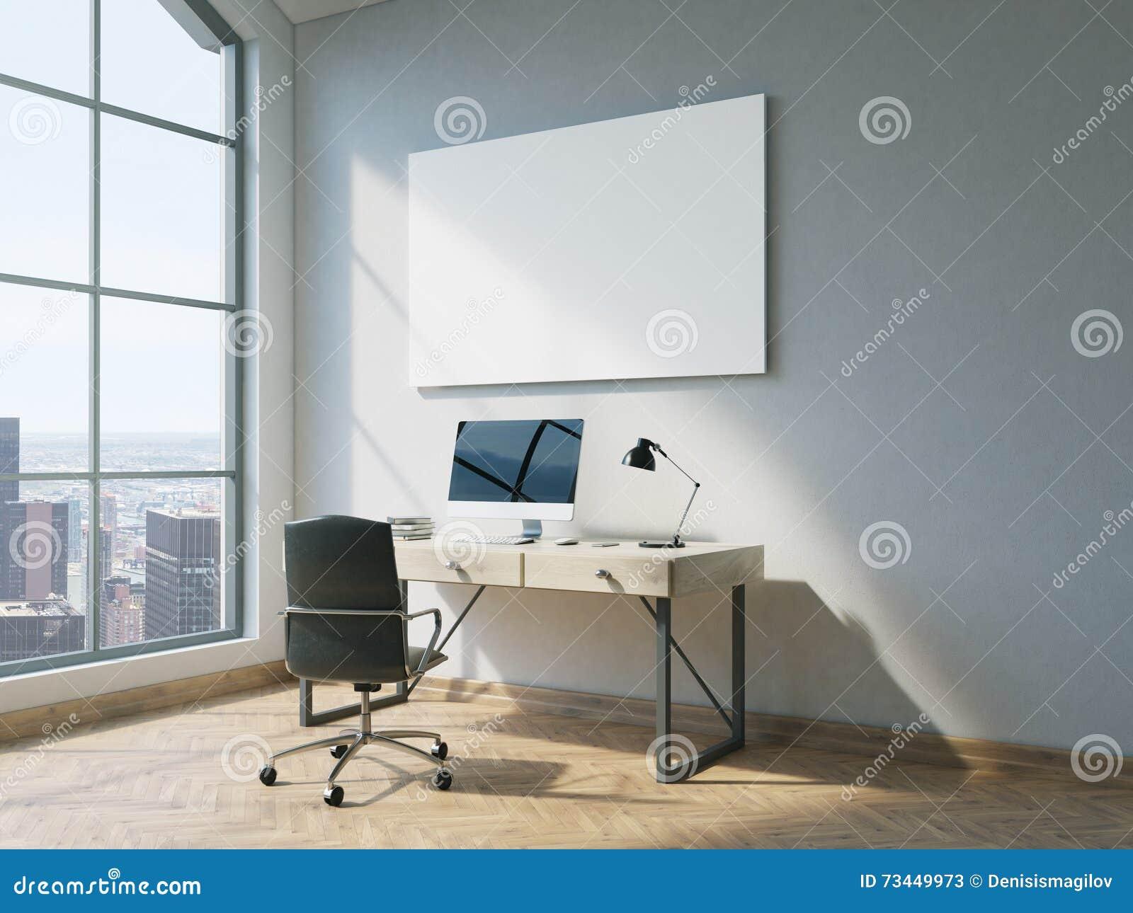 Bureau avec le tableau blanc illustration stock illustration du