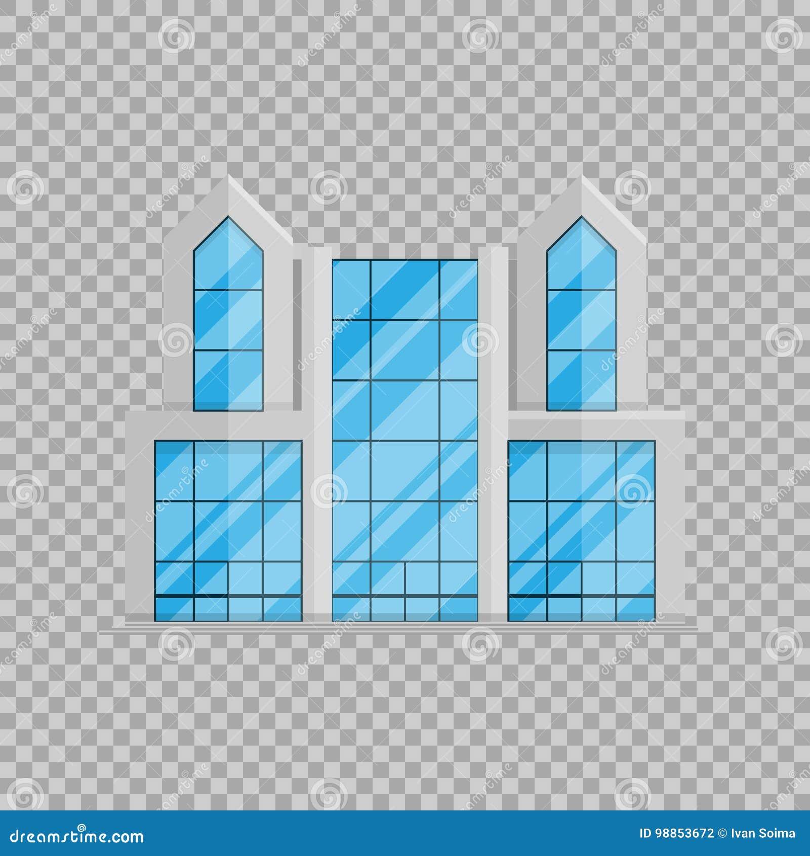Bureau bedrijfs de bouw geïsoleerde Vlakte in stijl op transparante vectorillustratie als achtergrond