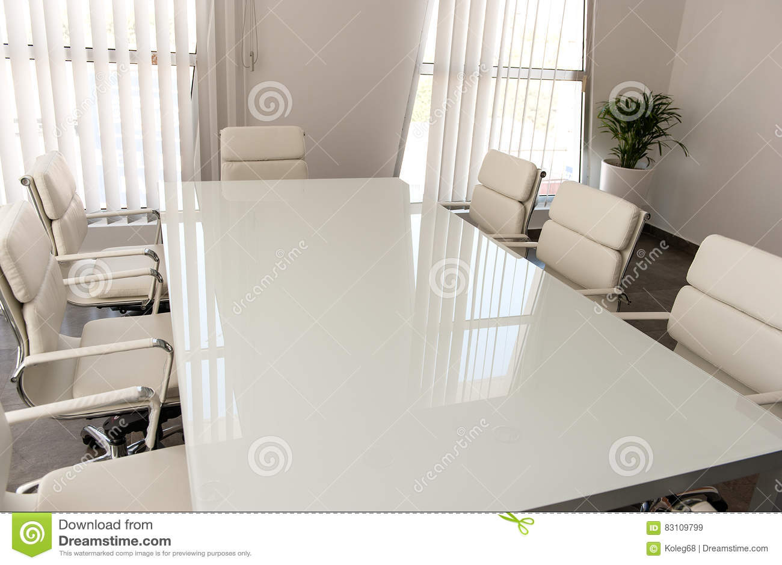 Bureau blanc moderne image stock image du blanc technologie