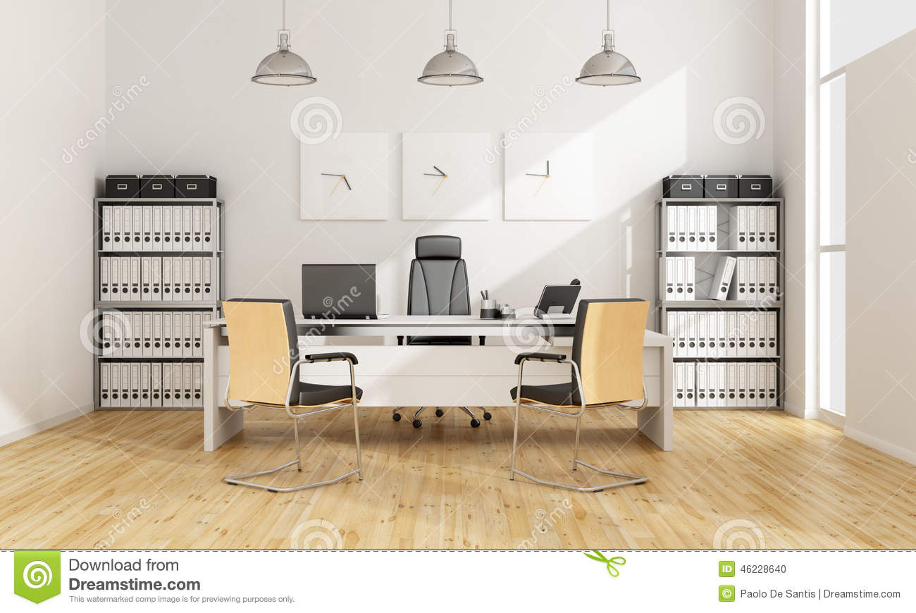 bureau contemporain illustration stock image 46228640. Black Bedroom Furniture Sets. Home Design Ideas