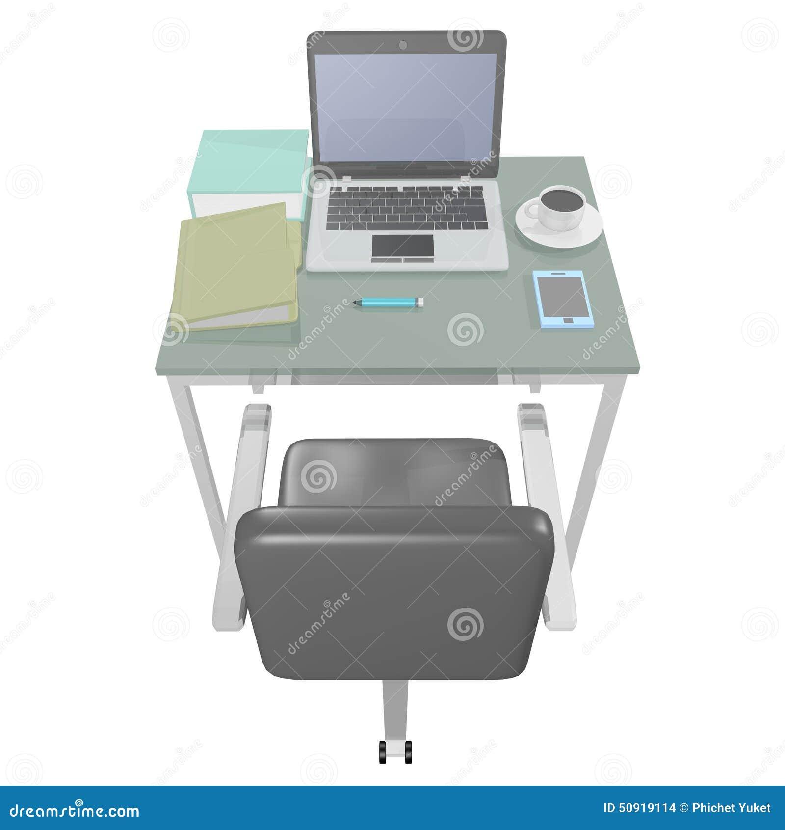Bureau d 39 ordinateur illustration stock image 50919114 - Bureau d ordinateur ...