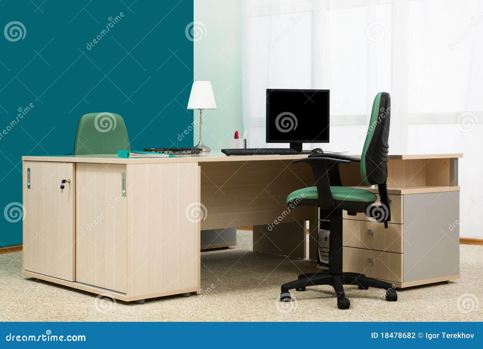 Bureau dans un bureau moderne photographie stock image for Bureau moderne