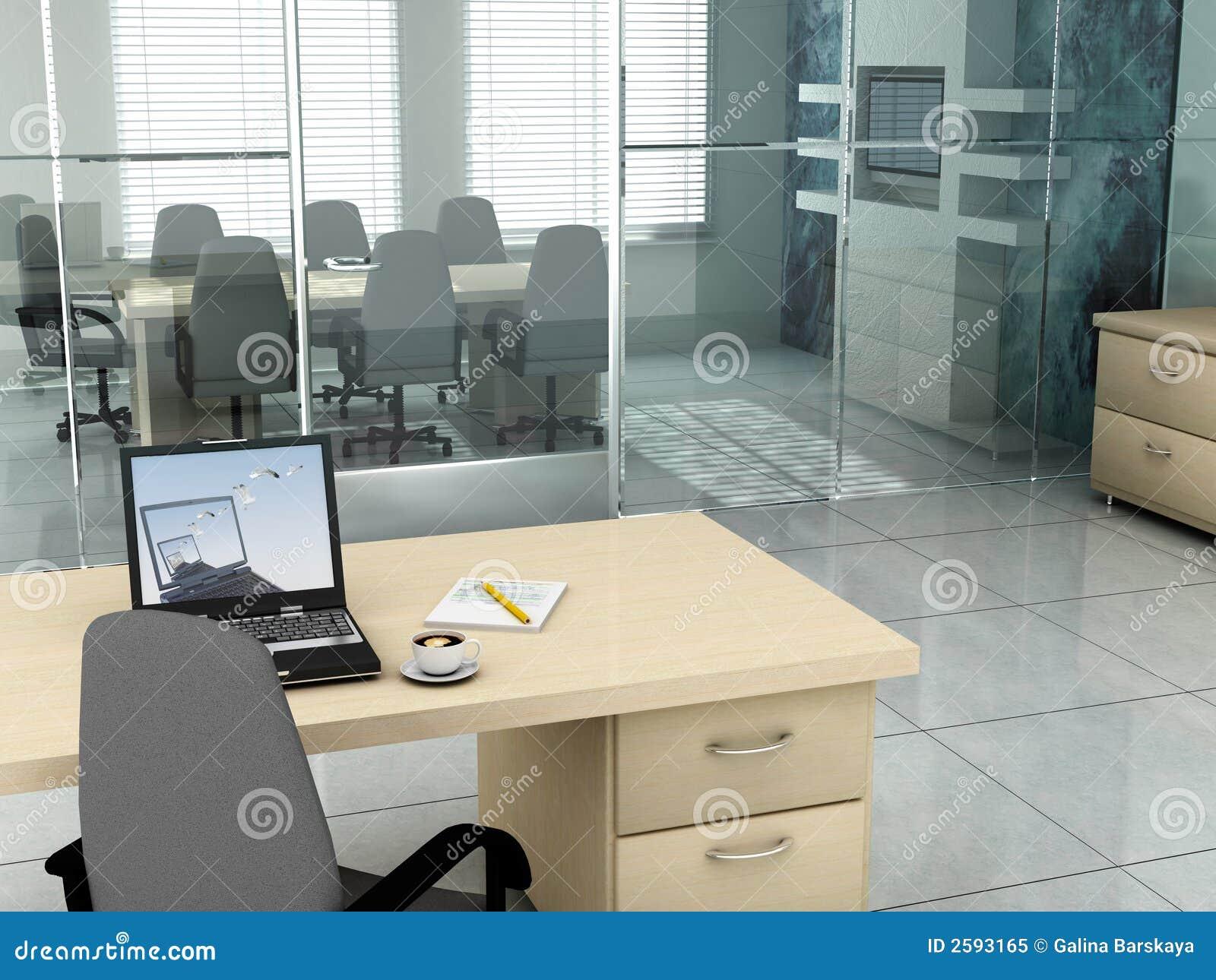 Bureau in de ochtend