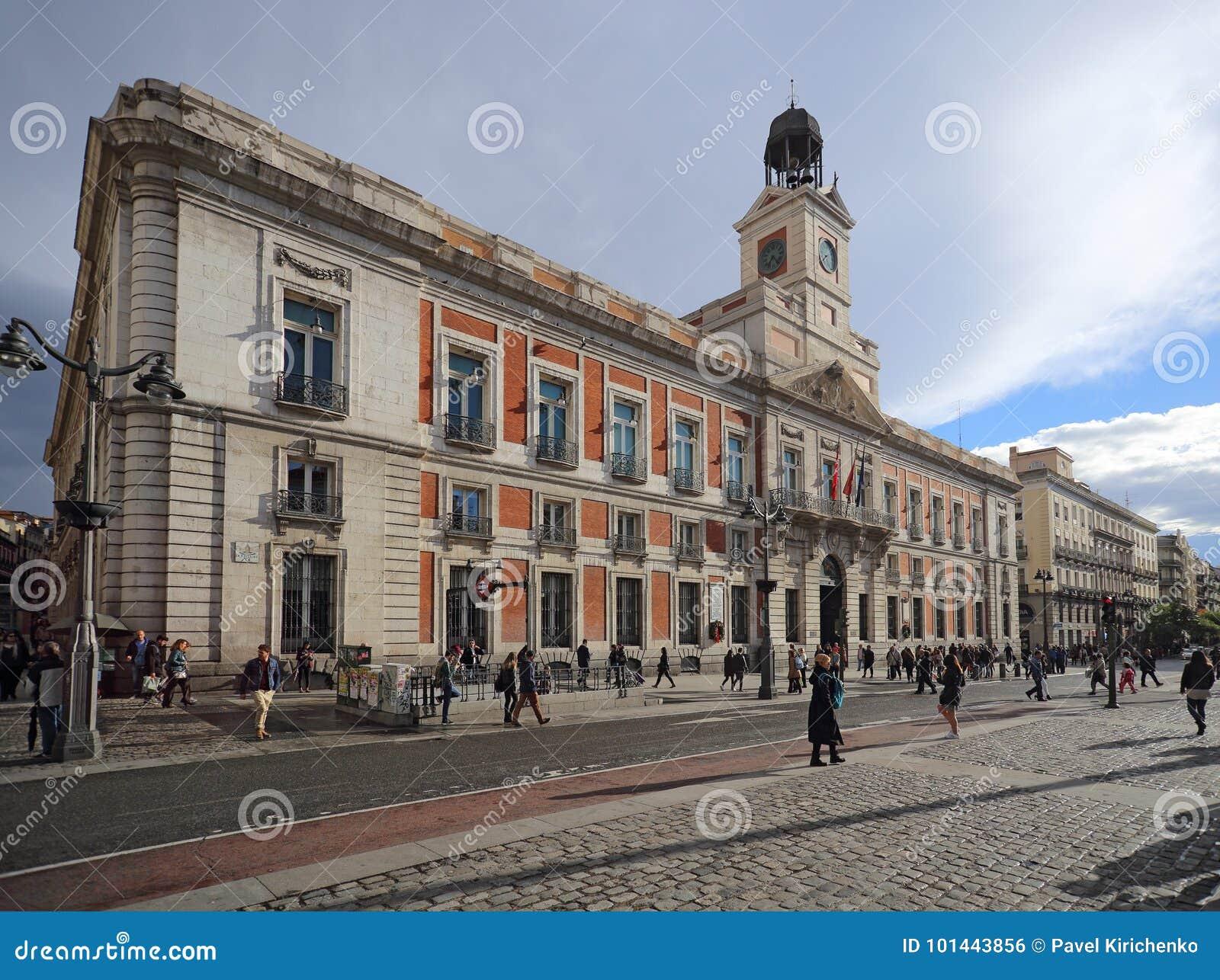 Bureau de poste de Real Casa de Correos Royal chez Puerta del Sol, Madrid, Espagne Ce bâtiment est au m