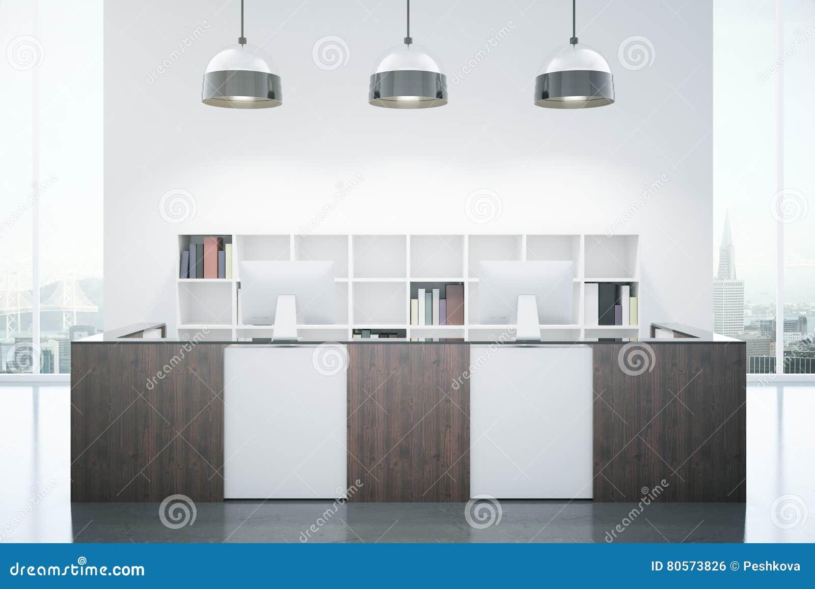 Bureau de réception moderne illustration stock illustration du