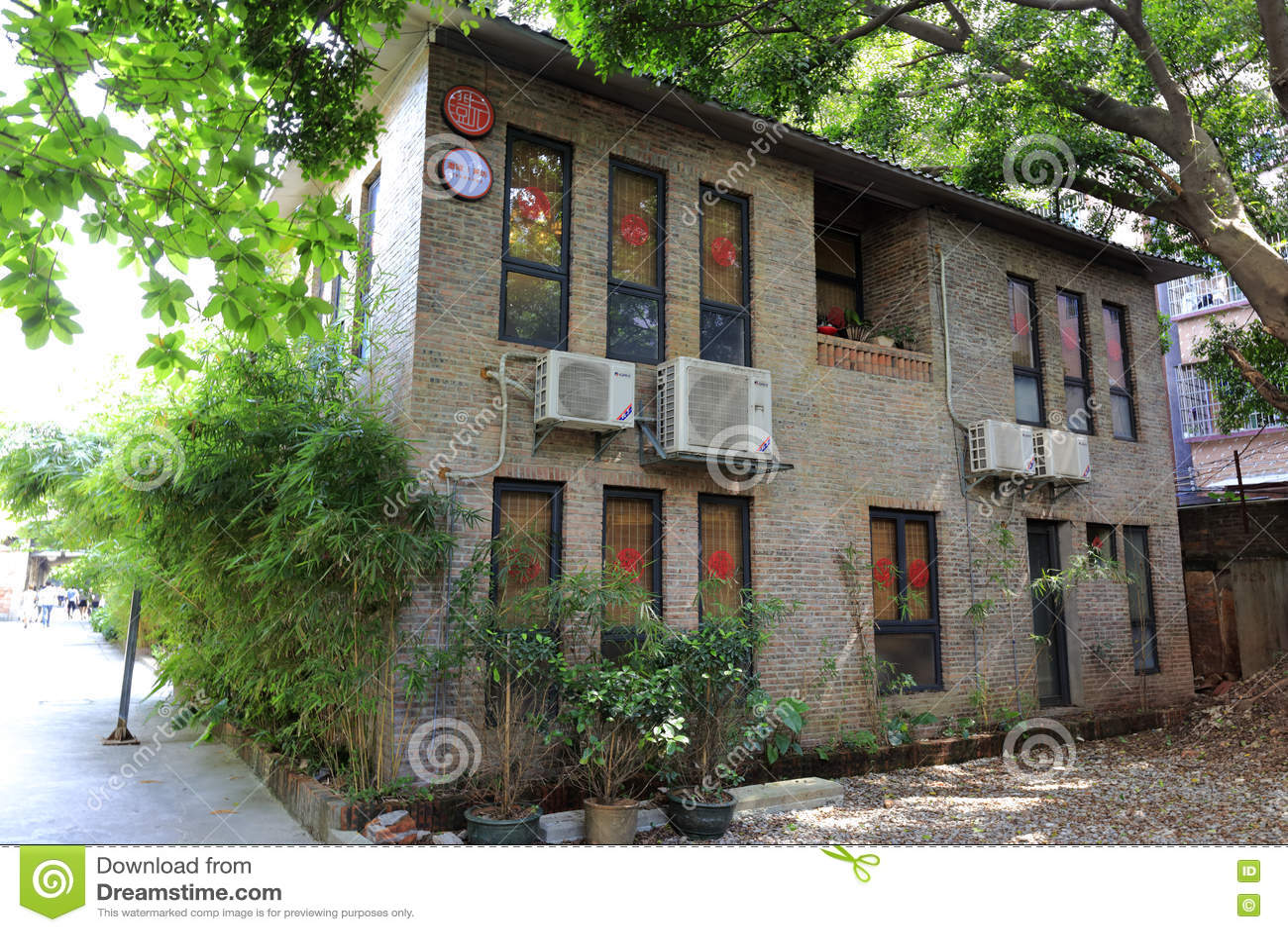Bureau de vieille usine dans le jardin créatif redtory canton