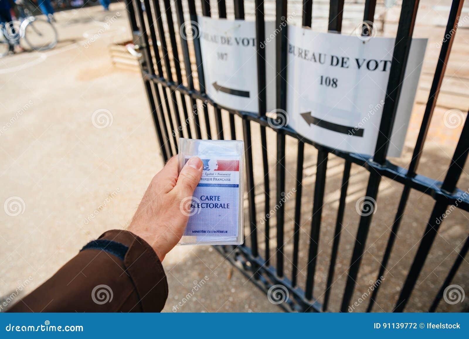 Bureau de vote personal perspective pov editorial photography