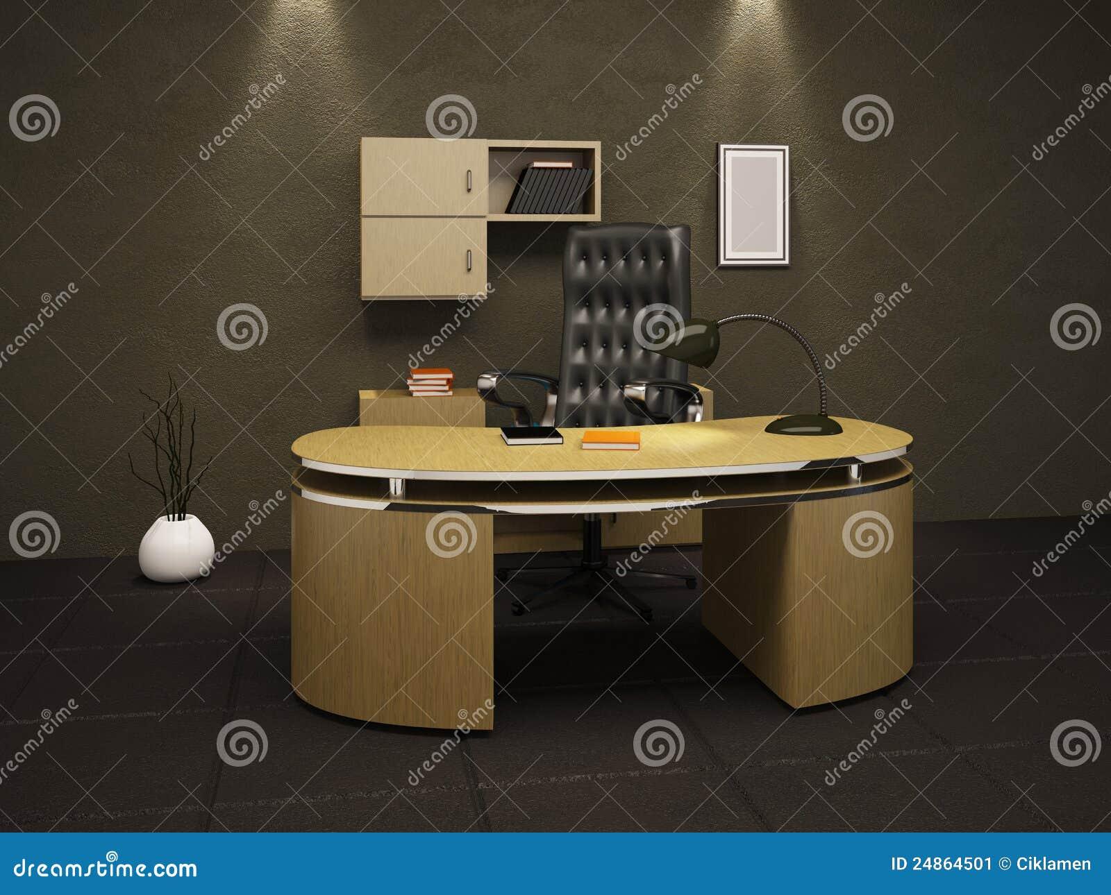 Bureau in een kelder