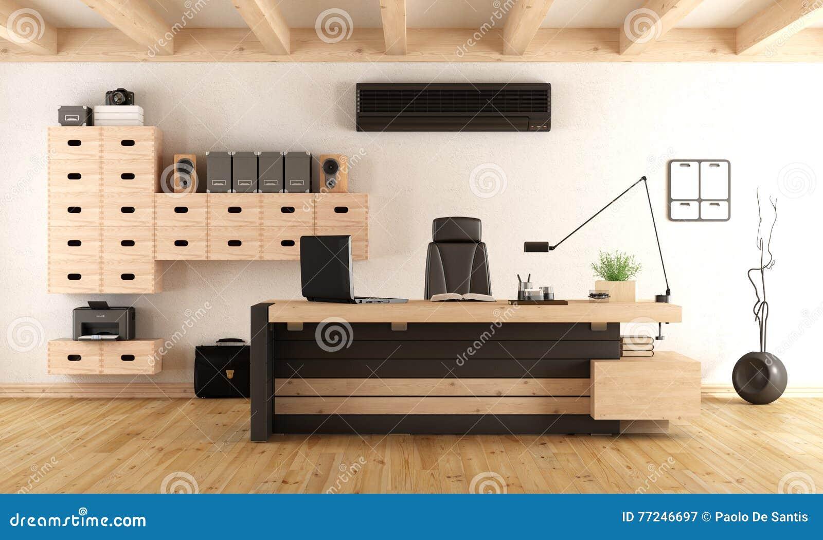 Bureau direction bois et verre avec métal modèle bench