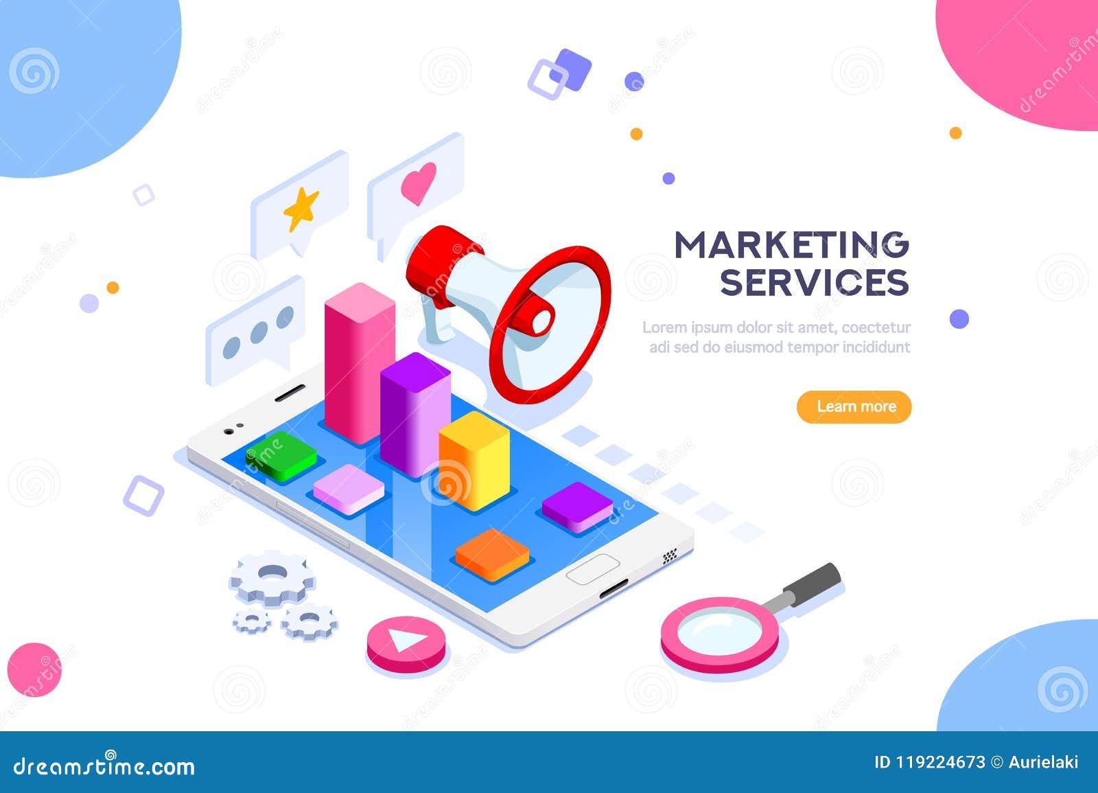 Bureau en Digitaal Marketing Concept