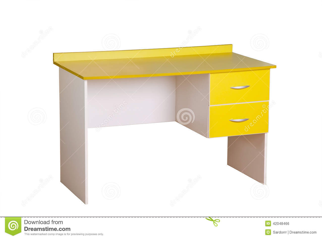 Bureau jaune d 39 tude photo stock image 42048466 for Bureau jaune