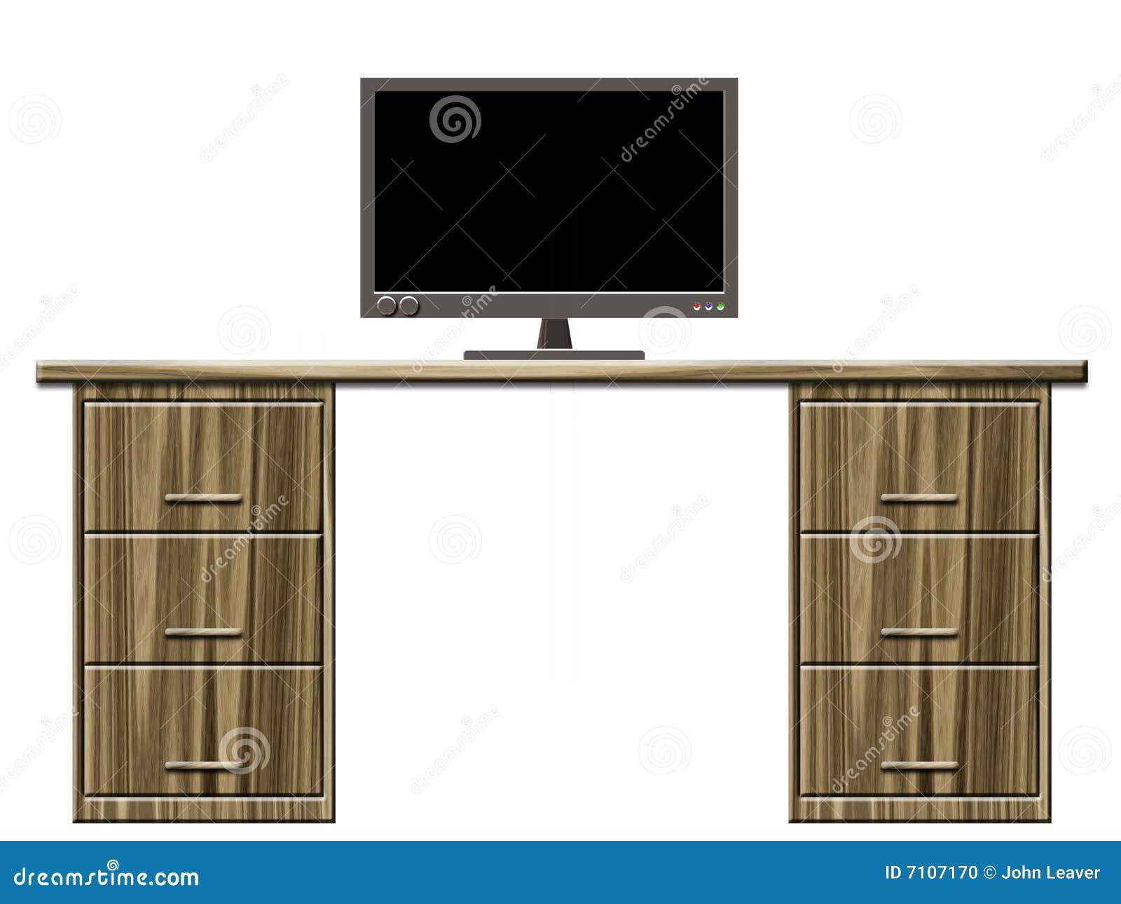 Bureau met monitor