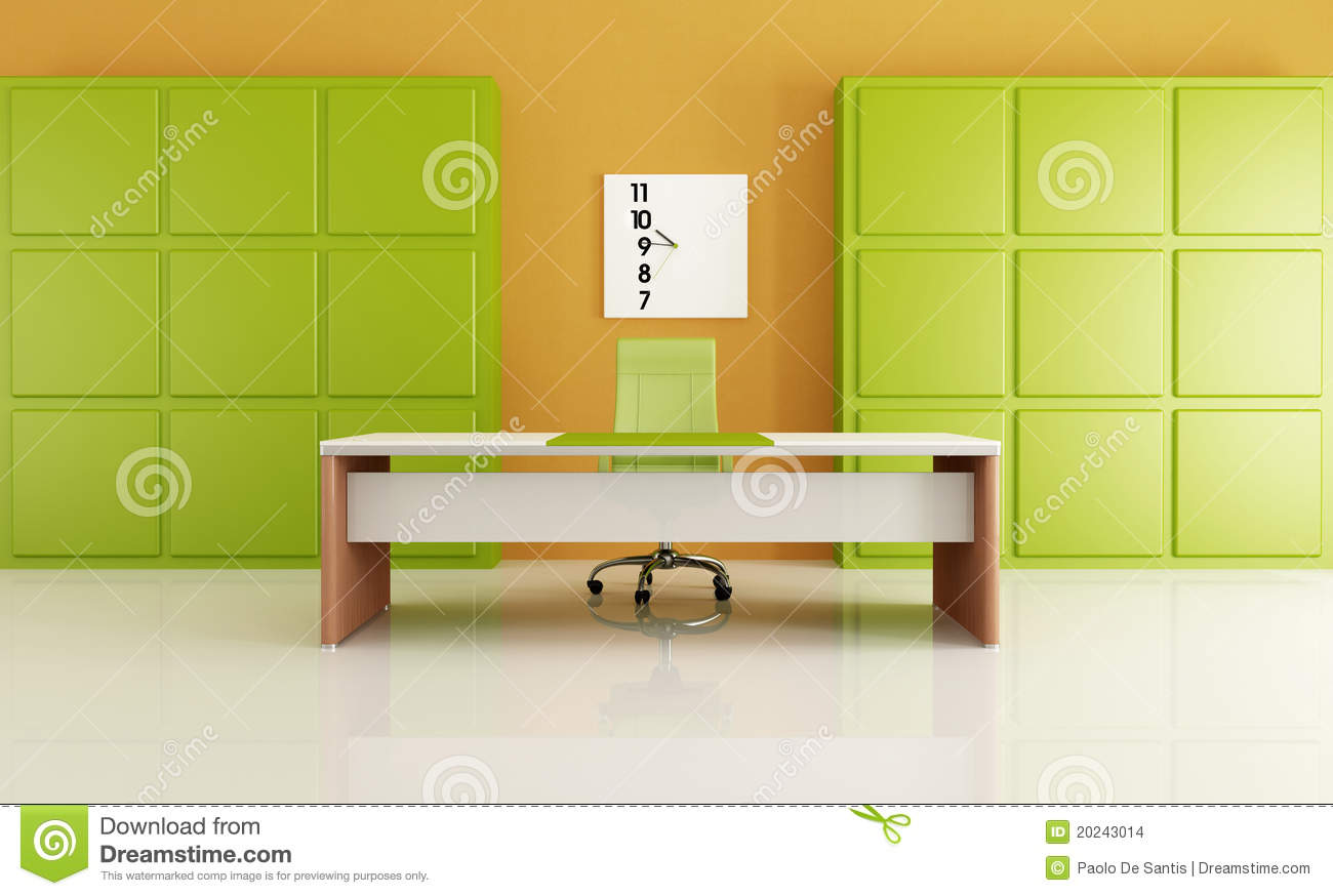 bureau minimaliste illustration stock illustration du orange 20243014. Black Bedroom Furniture Sets. Home Design Ideas