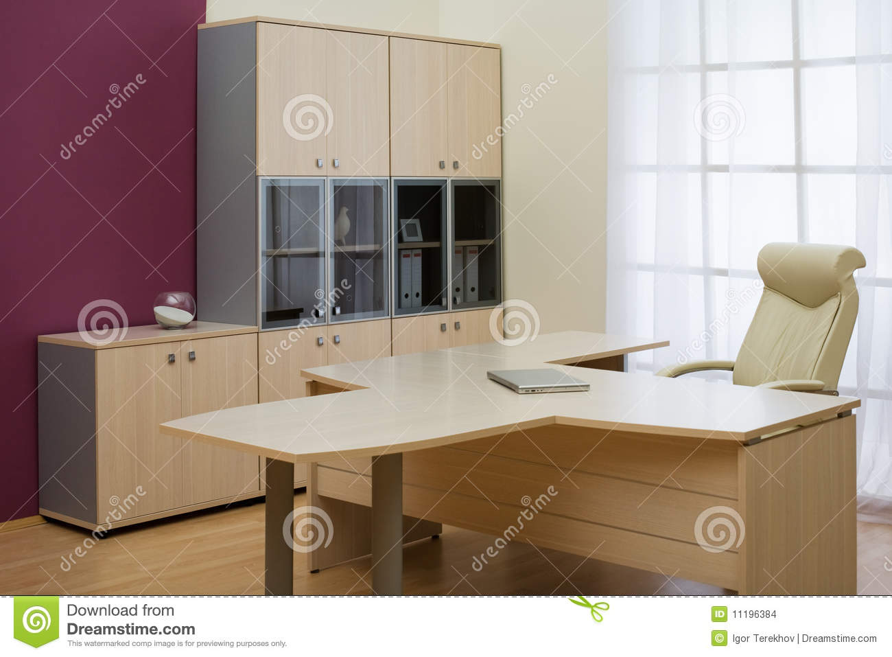 Bureau moderne photo stock image du indoors couleur