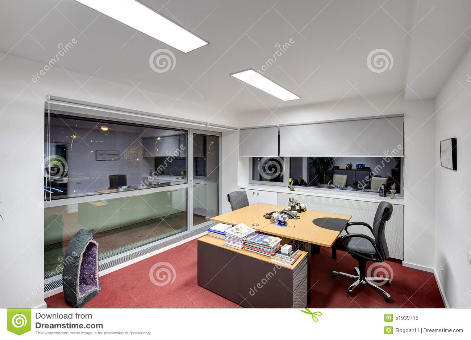 Bureau Moderne Image Stock Image Du Interieur Conference 51939715