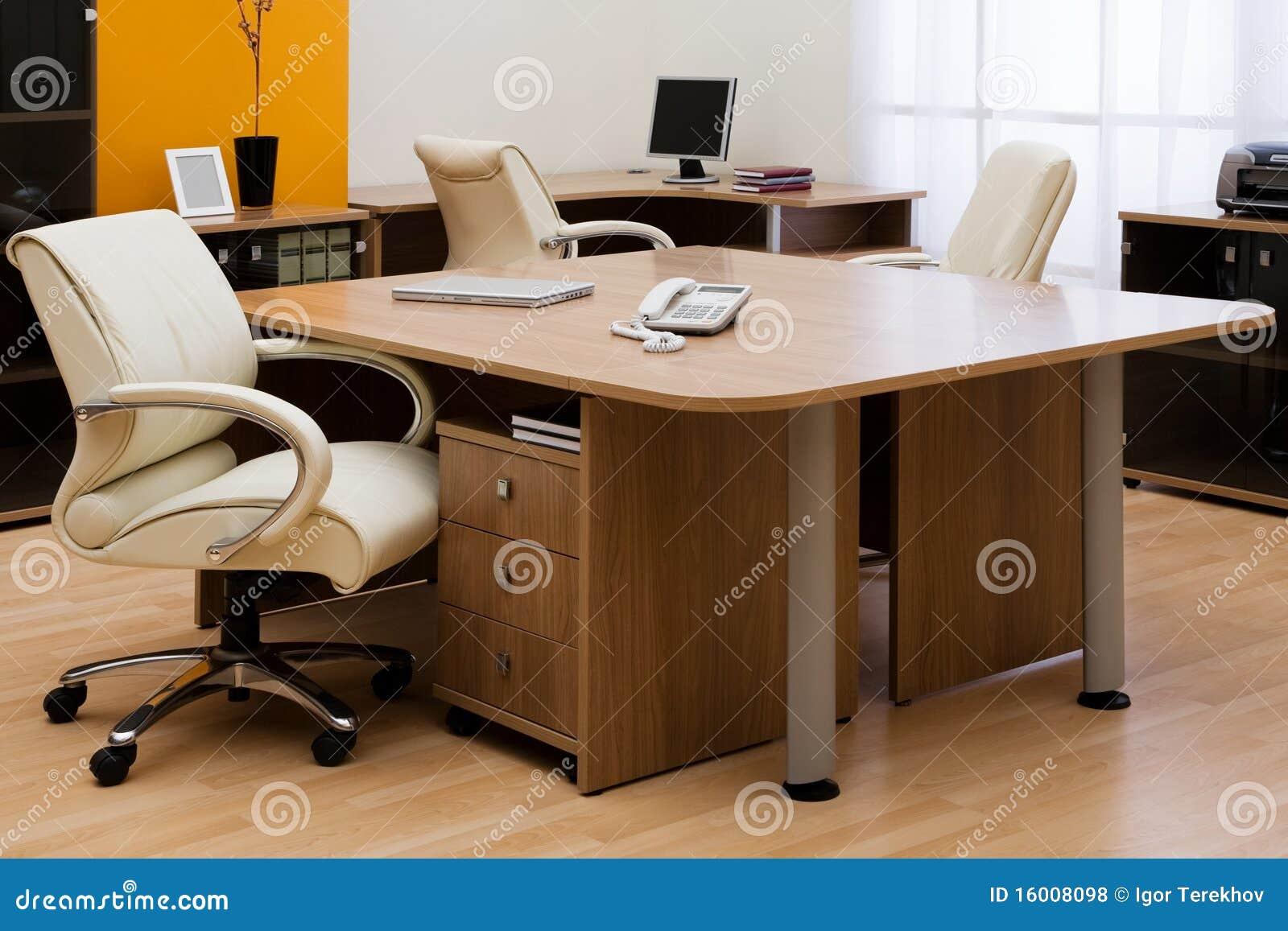 Bureau op modern kantoor royalty vrije stock foto 39 s afbeelding 16008098 - Moderne kantoorbureaus ...