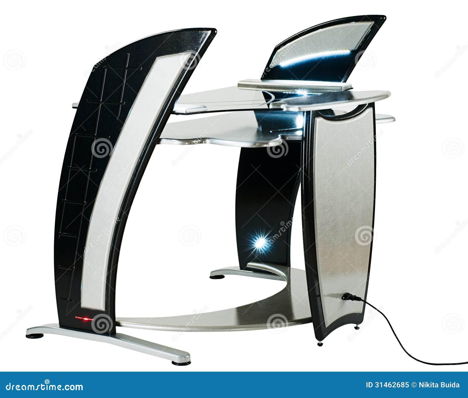 Bureau ou poste de travail moderne d 39 ordinateur photo for Bureau ordinateur moderne
