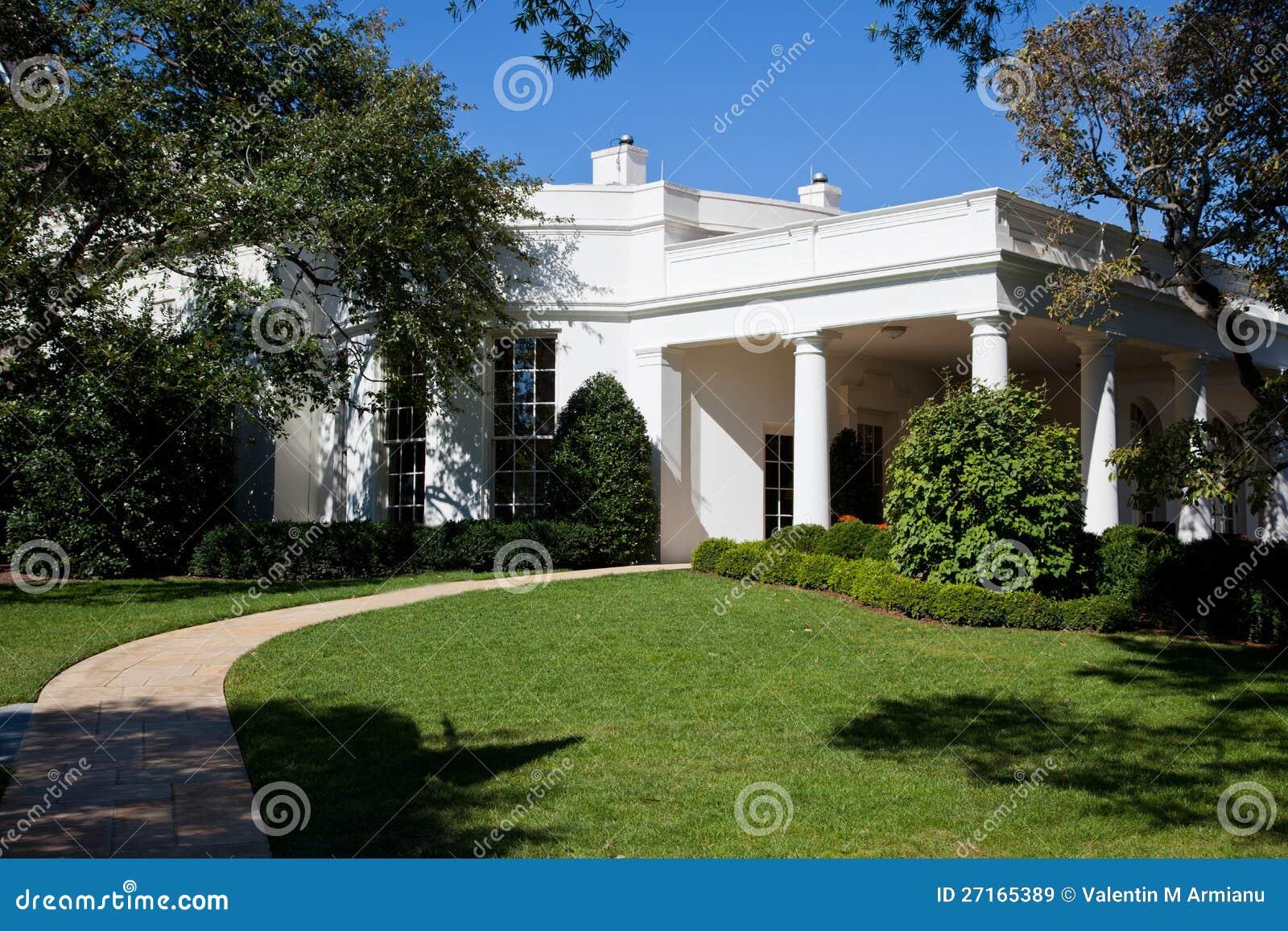 bureau ovale la maison blanche images libres de droits. Black Bedroom Furniture Sets. Home Design Ideas