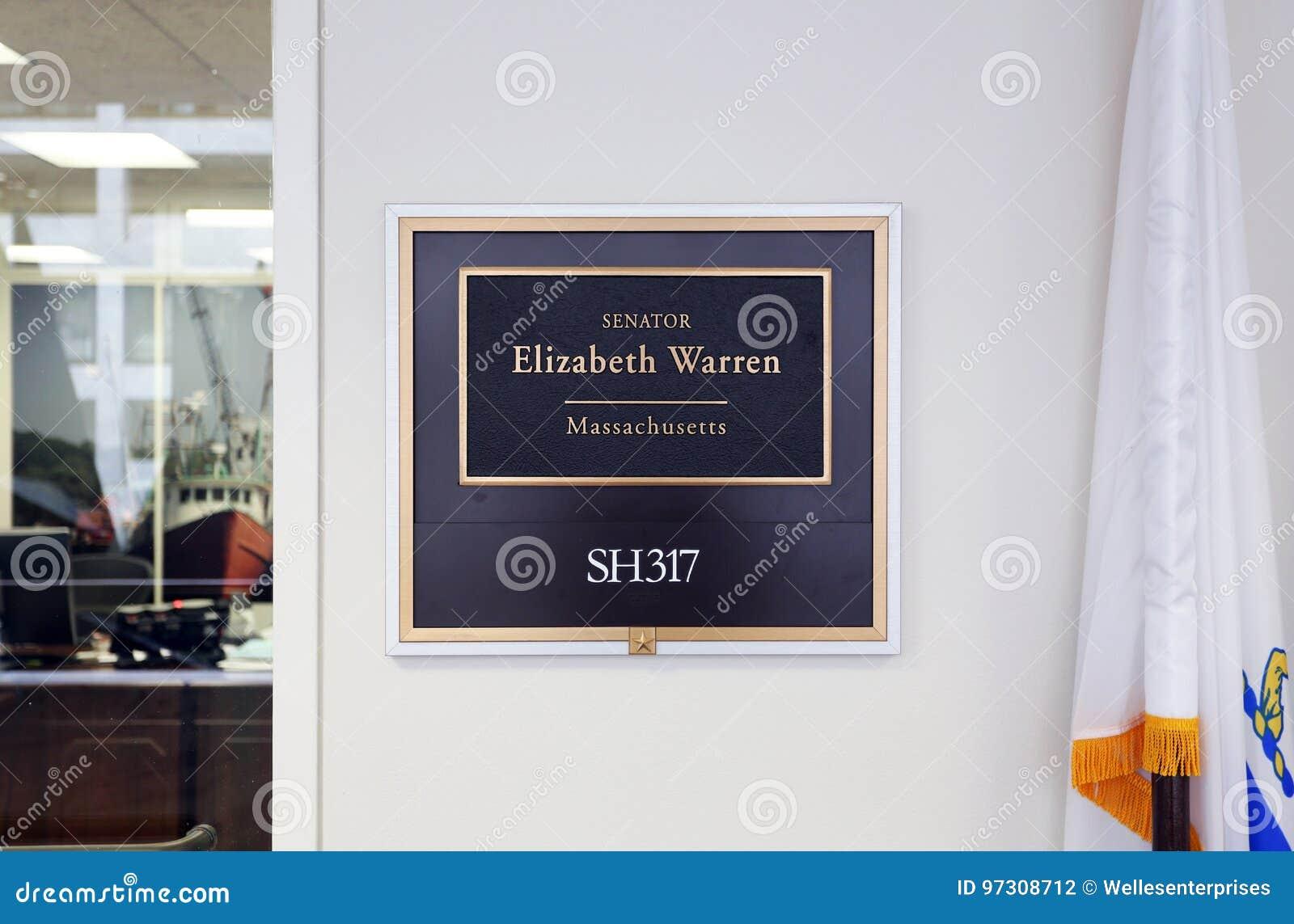 Bureau van Verenigde Staten Senator Elizabeth Warren