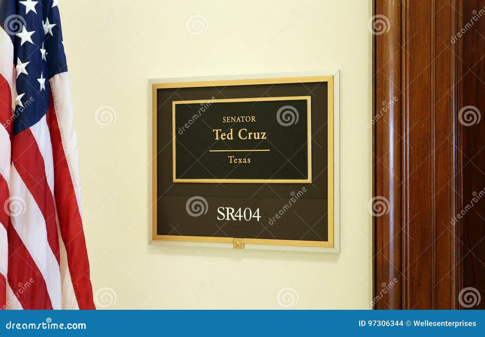 Bureau van Verenigde Staten Senator Ted Cruz
